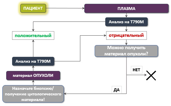 Молекулярно-генетическое тестирование с целью выявления мутации T790M в гене EGFR